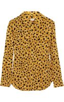 Equipment Animal Print Silk Shirt - Lyst