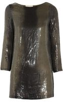 MICHAEL Michael Kors Sequined Jersey Tunic - Lyst