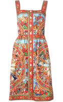 Dolce & Gabbana Button Dress - Lyst