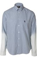 McQ by Alexander McQueen Washed Blue Cotton Classic Pocket Shirt - Lyst