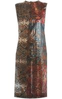 Preen By Thorton Bregazzi Snakeshell Print Sleeveless Dress - Lyst