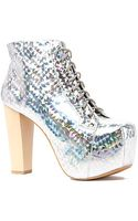 Jeffrey Campbell The Lita Hologram Shoe in Silver - Lyst