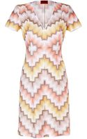 Missoni  Knit V-Neck Dress - Lyst