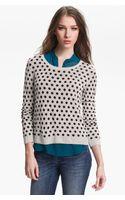 Kensie Reversible Dot Sweater - Lyst