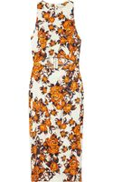 Suno Floralprint Stretchsilk Dress - Lyst