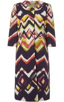 Linea Zig Zag Dress Coat - Lyst