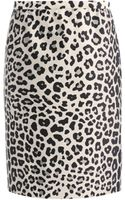 Marc Jacobs Satin Leopardprint Pencil Skirt - Lyst