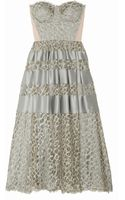 Temperley London Satintrimmed Lace Dress - Lyst