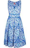 Tory Burch Floral Print Dress - Lyst