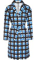 Marni Checked Taffeta Coat - Lyst