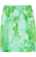 Michael Van Der Ham Printed Silk-Organza Mini Skirt - Lyst