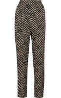 By Malene Birger Printed Crepe Tapered Pants - Lyst