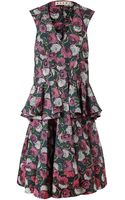 Marni Floral Printed Cotton Dress - Lyst