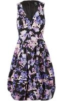 McQ by Alexander McQueen Iris Printed Cottonblend Twill Dress - Lyst