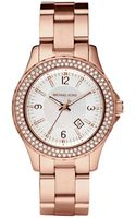 Michael Kors Minisize Rose Golden Stainless Steel Madison Chronograph Glitz Watch - Lyst