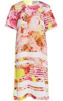 Preen By Thorton Bregazzi Peony Silk Dress with Citrus Back - Lyst