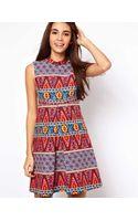 Asos Asos Shift Dress in Habanera Print - Lyst