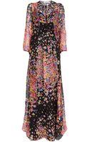 Blugirl Blumarine Maxi Floral Print Dress - Lyst