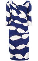 Diane Von Furstenberg Silk Printed Dress - Lyst