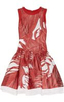 Prabal Gurung Dropped Waist Silk Fil Coupé Dress - Lyst