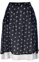 Societe Anonyme Cherry Print Skirt - Lyst
