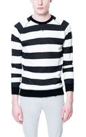 Zara Striped Sweatshirt - Lyst
