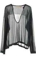 Inhabit Long Sleeve Sweaters - Lyst