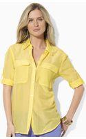 Lauren by Ralph Lauren Cotton Work Shirt - Lyst