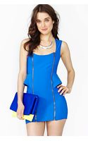 Nasty Gal Peplum Zip Dress - Lyst