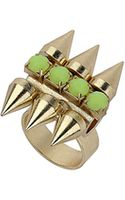 Topshop Stone and Spike Ring - Lyst