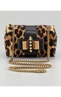 Christian Louboutin Sweet Charity Leopardprint Calf Hair Mini Shoulder Bag - Lyst