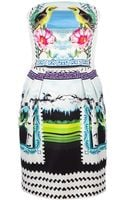 Mary Katrantzou Strapless Rodizio Dress - Lyst