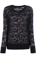 Raquel Allegra Lace Knit Sweater - Lyst