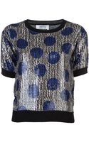 Sonia By Sonia Rykiel Sequined Sweater - Lyst