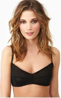 Nasty Gal Hot Mesh Bra Black - Lyst