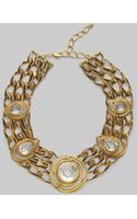 Oscar de la Renta Open Link Bib Necklace - Lyst