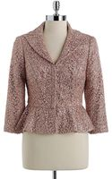 Kay Unger Sequined Lace Peplum Jacket - Lyst