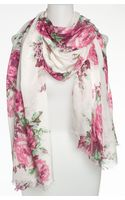 Betsey Johnson Floral Scarf - Lyst