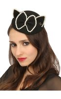 Maison Michel Bibi Yoko Felt Fur Pearls Cat Ear Hat - Lyst