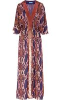 Matthew Williamson Python-Print Silk-Chiffon Maxi Dress - Lyst