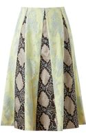 Erdem Jemima Lace and Python Printed Silk Skirt - Lyst