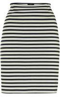 Adrianna Papell Slim Stripe Skirt - Lyst