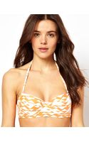 ASOS Collection Mix and Match Longline Bandeau Bikini Top with Detachable Strap - Lyst