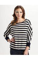 Tory Burch Striped Cashmere Sweater - Lyst
