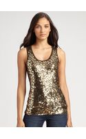 Michael by Michael Kors Sequined Camouflage Tank Top - Lyst