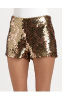 Haute Hippie Sequined Modal Shorts - Lyst