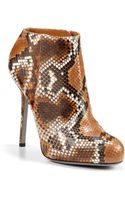 Sergio Rossi Python Ankle Boots - Lyst