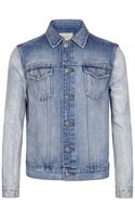 AllSaints Aya Denim Jacket - Lyst