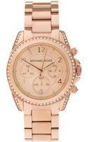 Michael Kors Rose Gold Chronograph Watch - Lyst