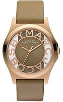 Marc By Marc Jacobs Ladies' Rose Goldtone Gingersnap Colored Leather Watch - Lyst